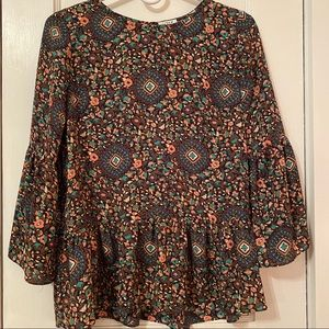 J. crew blouse with bell sleeves